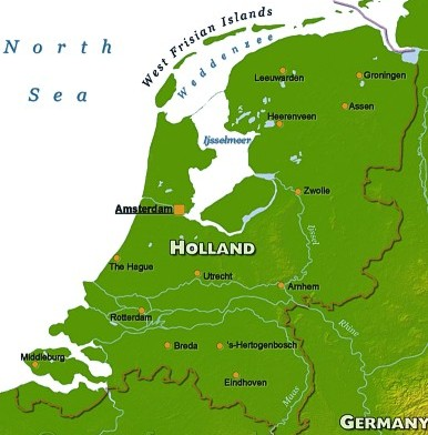 Map of Holland Ferry Routes