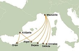 Algerie Route Map