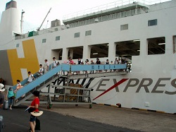 Hanil ExpressFerry disembrcation