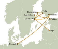 Tallink Route Map